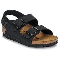 Sko Dreng Sandaler Birkenstock MILANO Nubuck / Sort