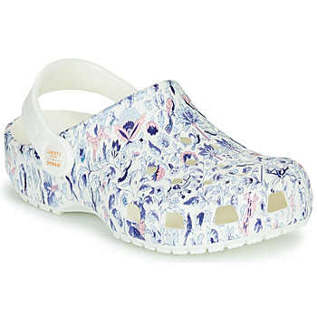 Sko Dame Træsko Crocs LIBERTY LONDON X CLASSIC LIBERTY GRAPHIC CLOG K Hvid