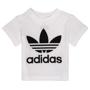 textil Børn T-shirts m. korte ærmer adidas Originals MAELYS Hvid
