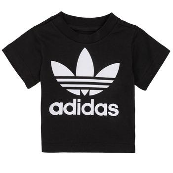 textil Børn T-shirts m. korte ærmer adidas Originals MARGOT Sort