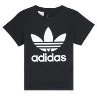 textil Børn T-shirts m. korte ærmer adidas Originals LEILA Sort