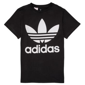 textil Børn T-shirts m. korte ærmer adidas Originals MAXENCE Sort