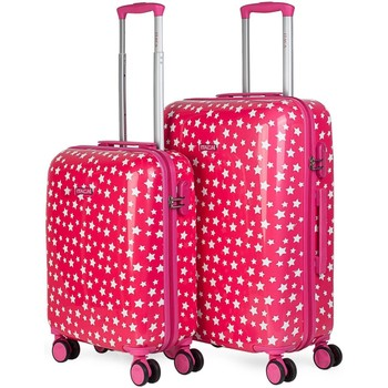 Tasker Dame Hardcase kufferter Itaca Stjerner Fuchsia
