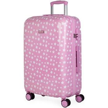 Tasker Pige Hardcase kufferter Itaca STJERNER 66 liter Pink
