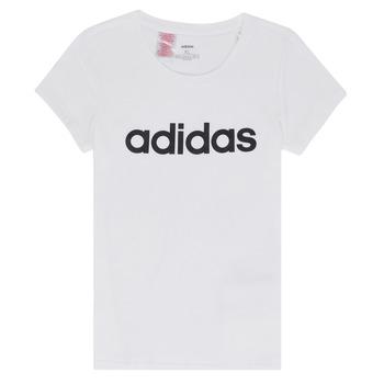textil Pige T-shirts m. korte ærmer adidas Performance NELIZO Hvid