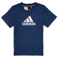 textil Dreng T-shirts m. korte ærmer adidas Performance BRIAN Marineblå