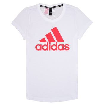 textil Pige T-shirts m. korte ærmer adidas Performance ELIOTE Hvid