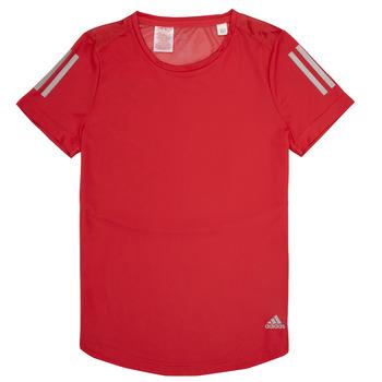 textil Pige T-shirts m. korte ærmer adidas Performance MELINDA Rød