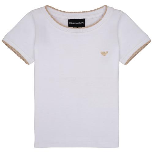 textil Pige T-shirts m. korte ærmer Emporio Armani Allan Hvid