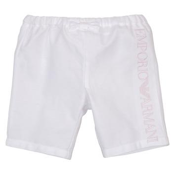 textil Pige Shorts Emporio Armani Aniss Hvid