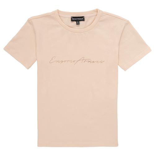 textil Pige T-shirts m. korte ærmer Emporio Armani Armel Pink