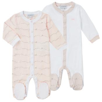 textil Pige Pyjamas / Natskjorte Emporio Armani Alec Pink