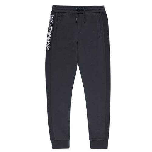 textil Dreng Træningsbukser Emporio Armani Anderson Marineblå