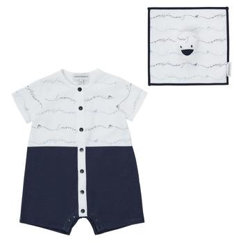 textil Dreng Buksedragter / Overalls Emporio Armani Edouard Marineblå