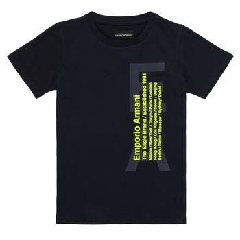 textil Dreng T-shirts m. korte ærmer Emporio Armani Andoni Marineblå