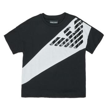 textil Dreng T-shirts m. korte ærmer Emporio Armani Blaise Sort / Hvid