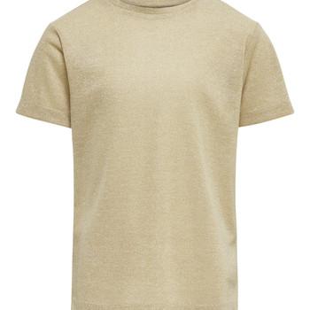 textil Pige T-shirts m. korte ærmer Only KONSILVERY Guld