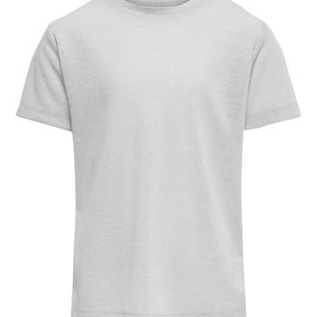textil Pige T-shirts m. korte ærmer Only KONSILVERY Sølv