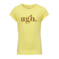 textil Pige T-shirts m. korte ærmer Only KONJULLA Gul