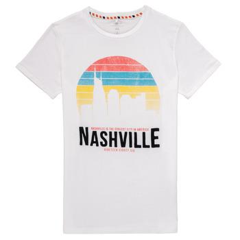 textil Dreng T-shirts m. korte ærmer Name it NKMDPOPS Hvid