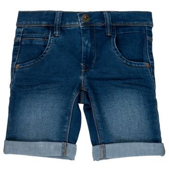 textil Pige Shorts Name it NKMSOFUS Blå