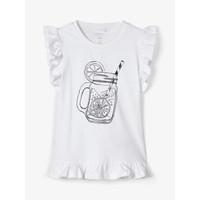textil Pige Toppe / T-shirts uden ærmer Name it NKFZELANA Hvid