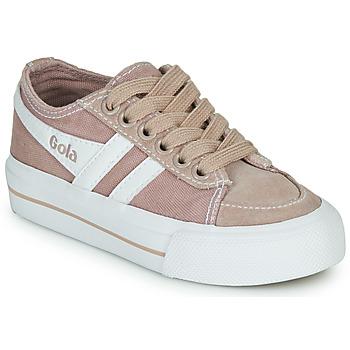Sko Børn Lave sneakers Gola QUOTA II Pink / Hvid