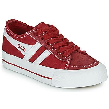 Sko Børn Lave sneakers Gola QUOTA II Rød / Hvid