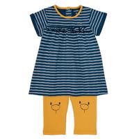 textil Pige Korte kjoler Noukie's AYOUB Blå / Gul