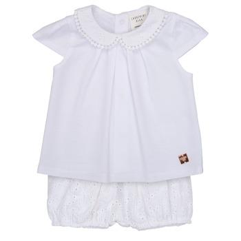 textil Pige Sæt Carrément Beau LORELLI Hvid