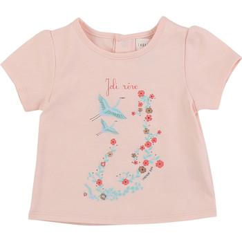 textil Pige T-shirts m. korte ærmer Carrément Beau JUSTINE Pink