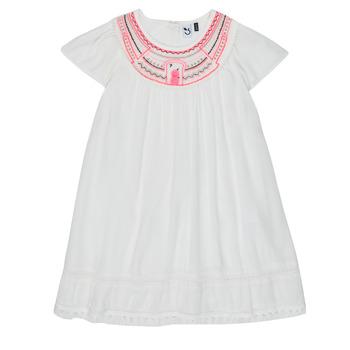 textil Pige Korte kjoler 3 Pommes LAURA Hvid