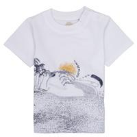 textil Dreng T-shirts m. korte ærmer Timberland ANTONIN Hvid