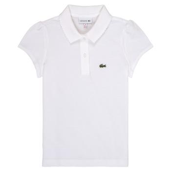 textil Pige Polo-t-shirts m. korte ærmer Lacoste CAYDEN Hvid