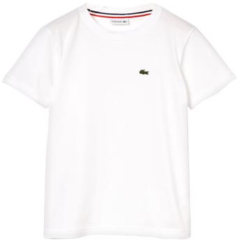 textil Dreng T-shirts m. korte ærmer Lacoste NAE Hvid