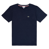 textil Dreng T-shirts m. korte ærmer Lacoste JOSEPHE Marineblå