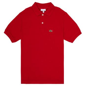 textil Dreng Polo-t-shirts m. korte ærmer Lacoste ANAICK Rød