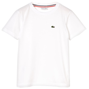 textil Dreng T-shirts m. korte ærmer Lacoste ALIZE Hvid