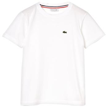 textil Dreng T-shirts m. korte ærmer Lacoste APAULINE Hvid