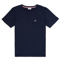 textil Dreng T-shirts m. korte ærmer Lacoste KETLEEN Blå