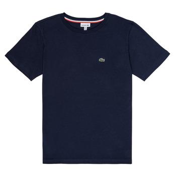 textil Dreng T-shirts m. korte ærmer Lacoste JUSTYNE Marineblå