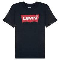 textil Dreng T-shirts m. korte ærmer Levi's BATWING TEE Sort