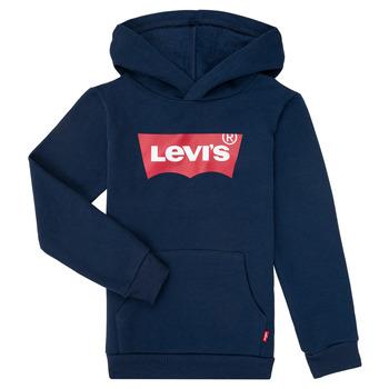 textil Dreng Sweatshirts Levi's BATWING SCREENPRINT HOODIE Marineblå
