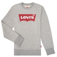 textil Dreng Sweatshirts Levi's BATWING CREWNECK Grå