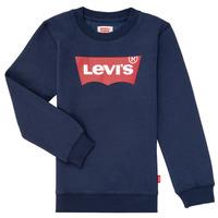 textil Dreng Sweatshirts Levi's BATWING CREWNECK Marineblå