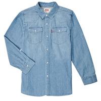 textil Dreng Skjorter m. lange ærmer Levi's BARSTOW WESTERN SHIRT Blå