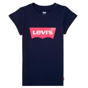 textil Pige T-shirts m. korte ærmer Levi's BATWING TEE Marineblå