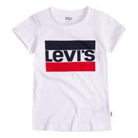 textil Pige T-shirts m. korte ærmer Levi's SPORTSWEAR LOGO TEE Hvid