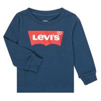 textil Dreng Langærmede T-shirts Levi's BATWING TEE LS Marineblå