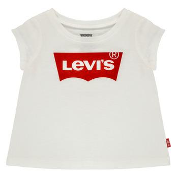 textil Pige T-shirts m. korte ærmer Levi's BATWING TEE Hvid